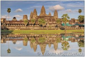 Świątynia Angkor Wat w prowincji Siem Rep KAMBODŻA