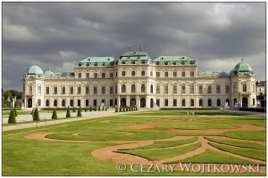 Belweder barokowy pałac w Wiedniu AUSTRIA
