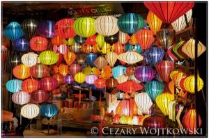 Sklep z lampionami w Hoi An WIETNAM