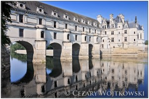 Zamek Chenonceau nad Loarą FRANCJA
