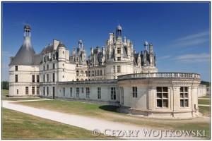 Zamek w Chambord w dolinie Loary FRANCJA