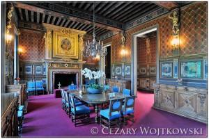 Wnętrze zamku Cheverny nad Loarą FRANCJA