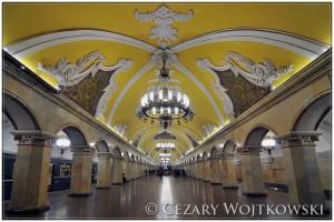 Stacja Metra Komsomolskaja Moskwa ROSJA
