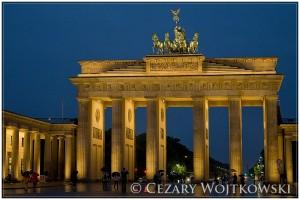 Brama Brandenburska w Berlinie NIEMCY