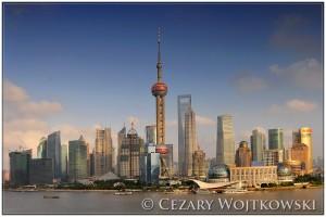Pudong i Pearl Tower Szanghaj CHINY