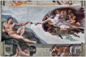 Stworzenie Adama Kaplica Sykstyńska WATYKAN
