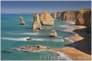 Dwunastu Apostołów w Parku Narodowym Port Campbell AUSTRALIA