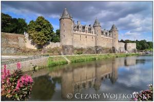 Zamek w Josselin Bretania FRANCJA