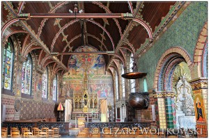 Wnętrze Bazyliki Świętej Krwi Brugia BELGIA