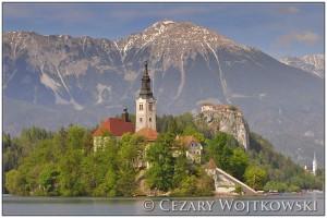 Kościół Wniebowzięcia na Jeziorze Bled SŁOWENIA