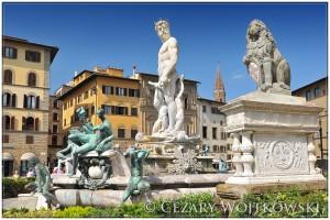 Fontanna przy Piazza della Signoria we Florencji WŁOCHY