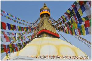 Bodnath buddyjska świątynia w Katmandu NEPAL