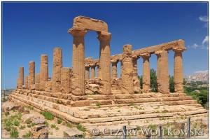 Świątynia Hery Sycylia WŁOCHY