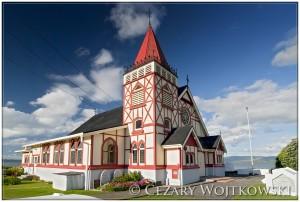 Kościół anglikański w Rotorua NOWA ZELANDIA