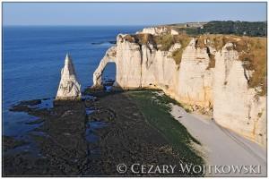 Klifowe wybrzeże Pays de Caux FRANCJA